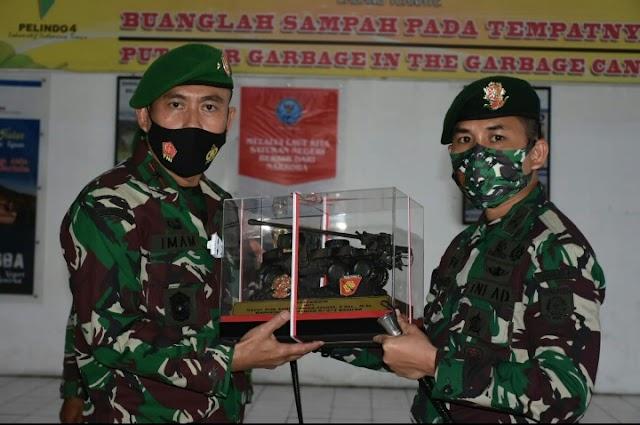 Satgas Yonarmed 9 Kostrad Melaksanakan Upacara Pelepasan Satgas Di Pelabuhan Ahmad Yani, Kota Ternate