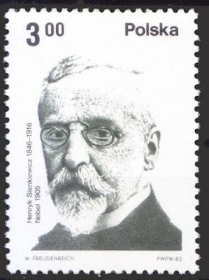 Poland 1987 MNH, Henryk Sienkiewicz, Polish novelist, Nobel in Literature