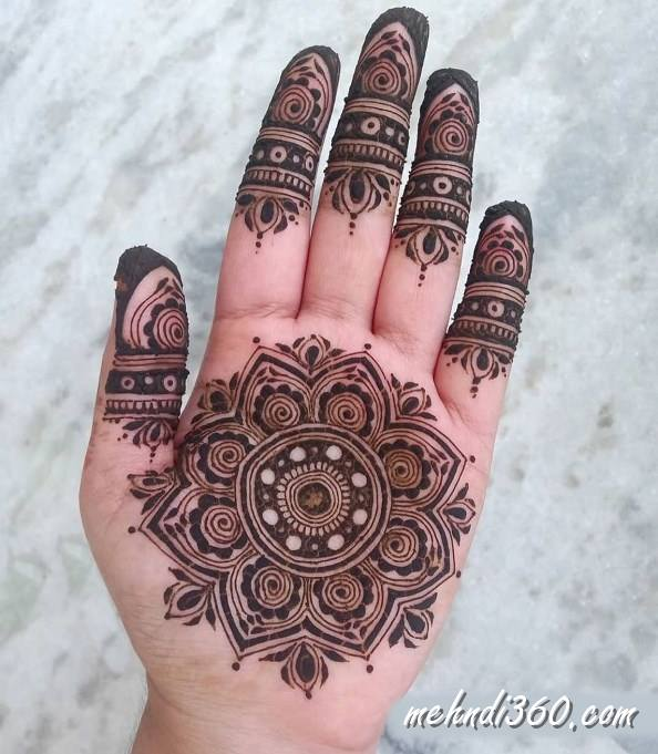 Fresh Mehndi Designs Front