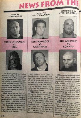 Inside Wrestling  - November 1998 -  Match reports in News from the Wrestling Capitals
