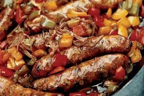 Salsiccia comunale con salsa