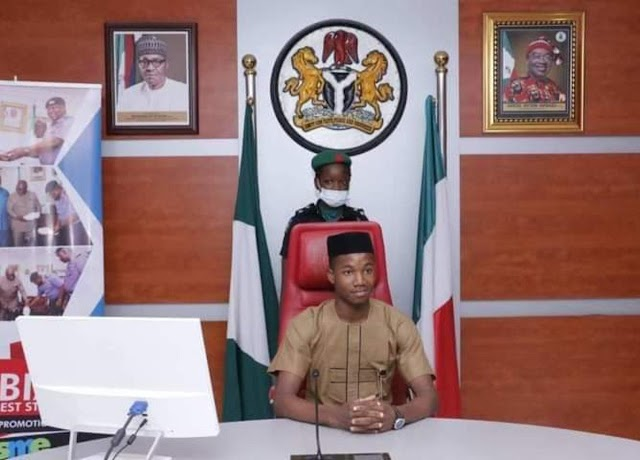 17 year-old boy emerges One Day Governor of Abia – (PHOTOS)