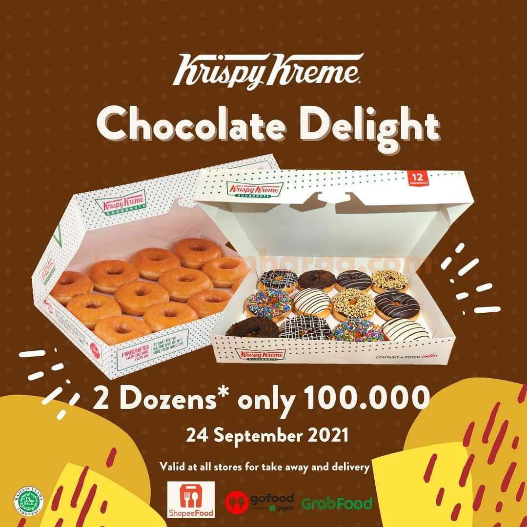 Promo Krispy Kreme 24 September 2021 - Chocolate Delight 2 Dozen hanya Rp. 100.000