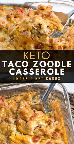 Magnificent Keto Taco Zoodle Casserole Recipe Janice Kitchen Onthecornerstone Fun Painted Chair Ideas Images Onthecornerstoneorg