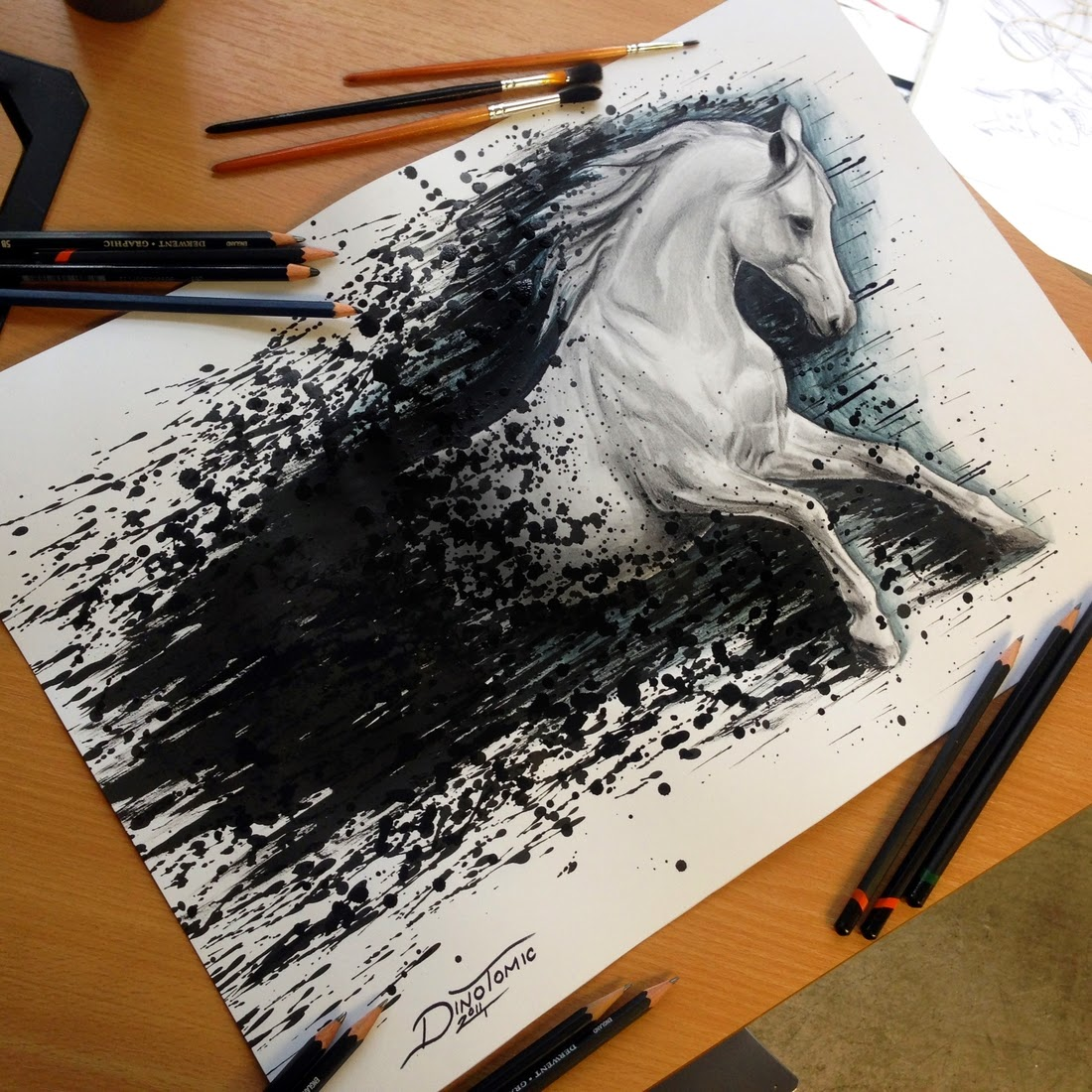 10-Horse-Splatter-Dino-Tomic-AtomiccircuS-Mastering-Art-in-Eclectic-Drawings-www-designstack-co