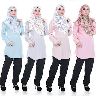 Blouse Muslimah Plus Size Sara M L XL 2XL 3XL