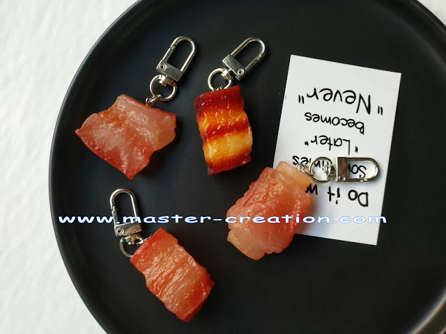 simulated meat pendant