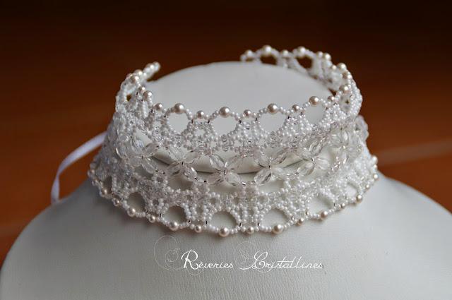 bijoux mariée ruban blanc