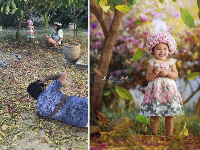 Ảnh chụp trong vườn của bé mới ngọt ngào làm sao