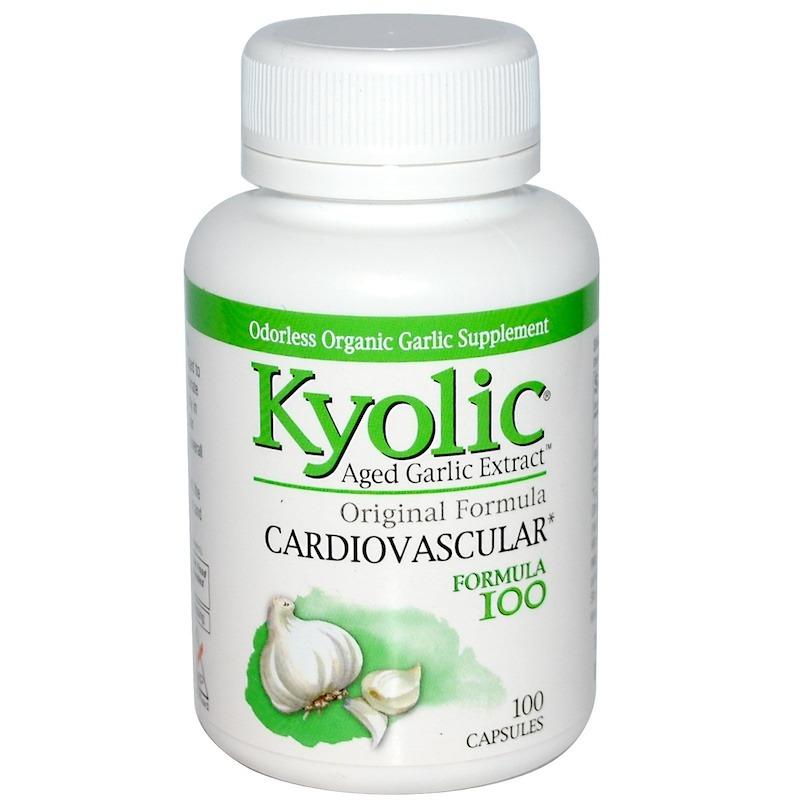 Kyolic, Aged Garlic Extract, формула для здоровья сердечно-сосудистой системы, 100 капсул