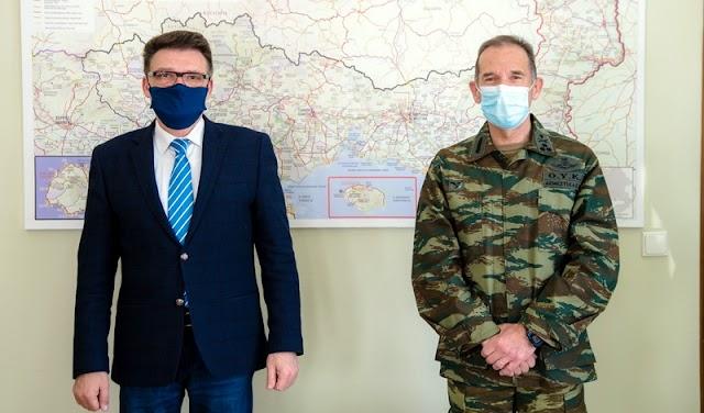 Εθιμοτυπική συνάντηση Διοικητή 1ης Στρατιάς με Αντιπεριφερειάρχη Έβρου