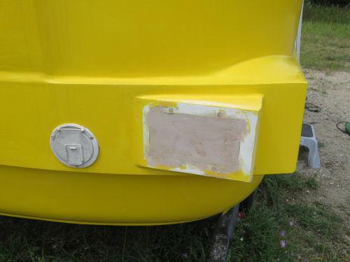 bondo on a fiberglass trailer