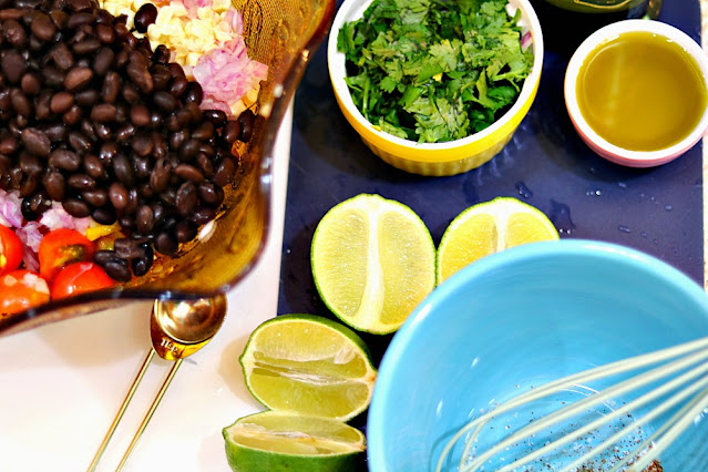 Fresh Lime and Olive Oil Dressing Recipe For Avocado Black Bean Salad At Home With Jemma