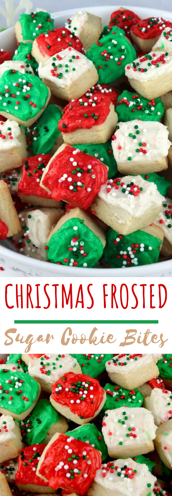 Christmas Sugar Cookie Bites #cookies #desserts #baking #easy #christmas