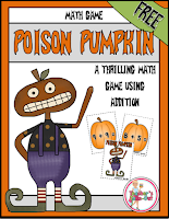 FREE Addition Game Poison Pumpkin