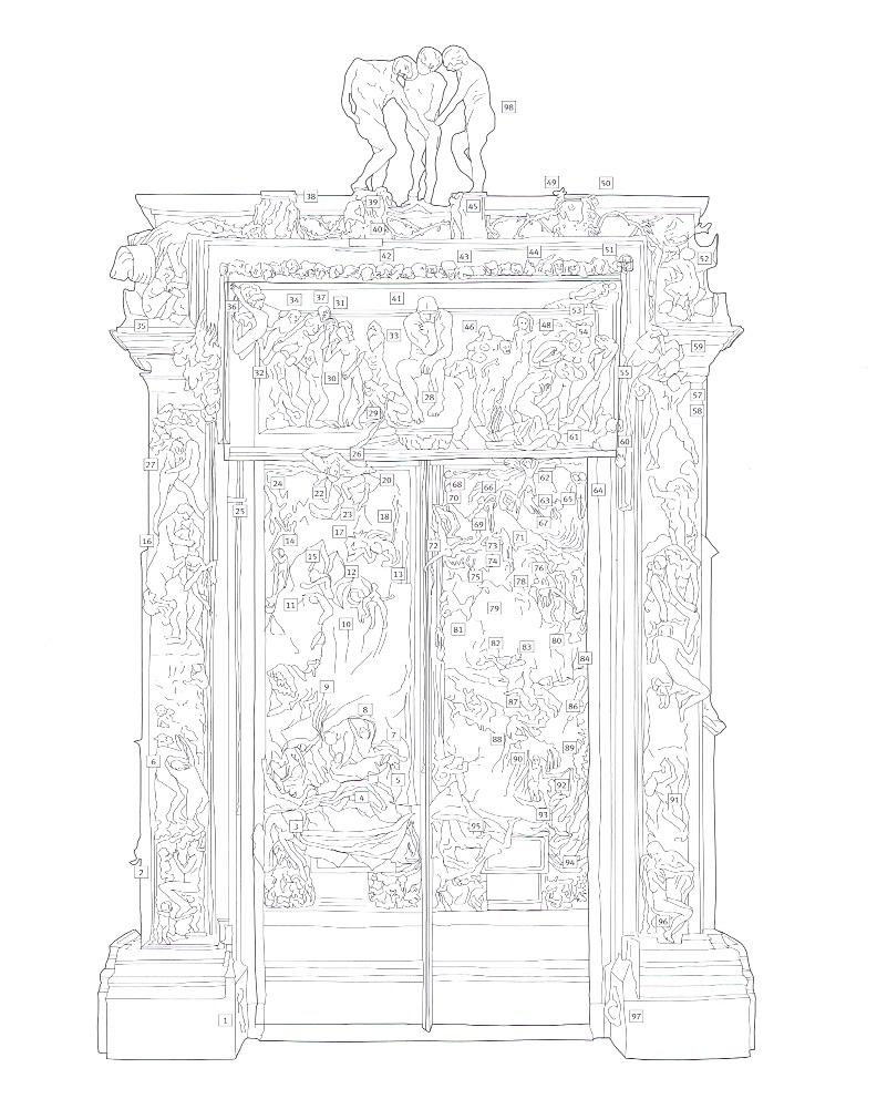 Artplastoc 537 l 39 oeuvre d 39 auguste rodin 1840 1917 2 la porte de l - L encadrure de la porte ...