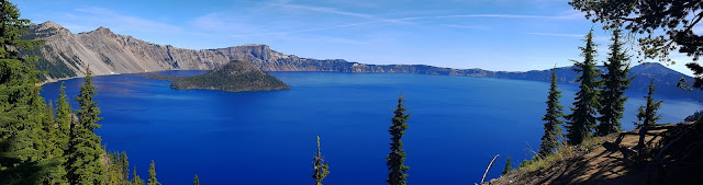 Wizard Island and Crater Lake...