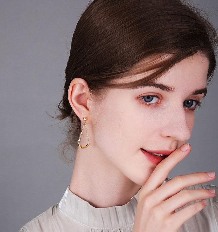 時尚感簡約之美長墜型耳環