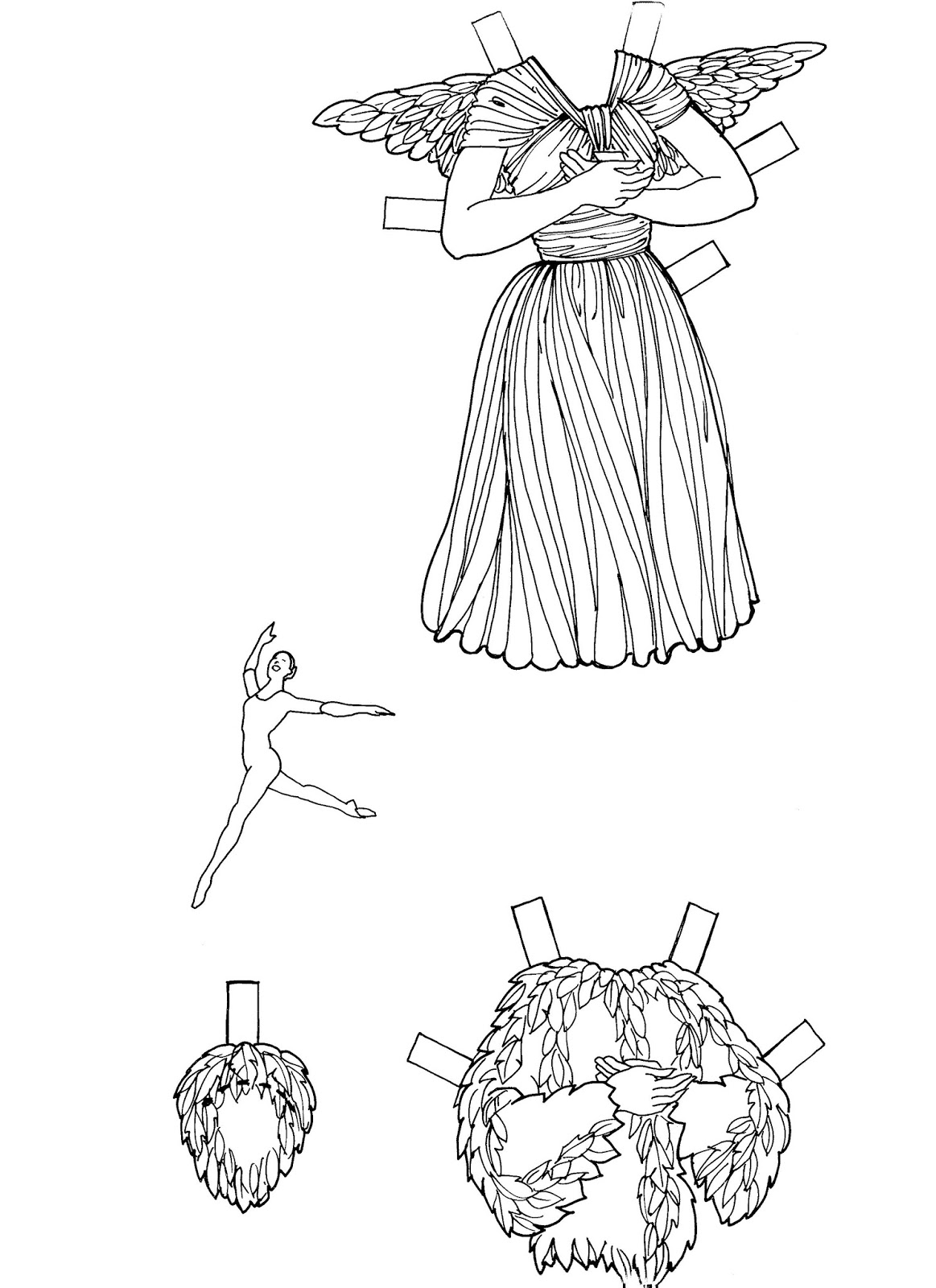 Mostly Paper Dolls Too!: BALLERINA Paper Doll