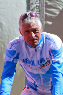 Moser pictured at the Giro d'Italia in 2011, after his retirement