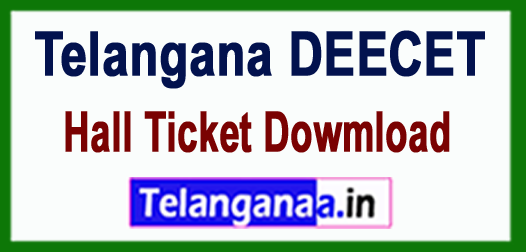TS Telangana DEECET 2018 Hall Ticket Dowmload