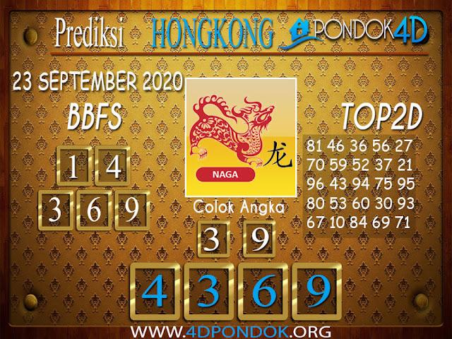 Prediksi Togel HONGKONG PONDOK4D 23 SEPTEMBER 2020