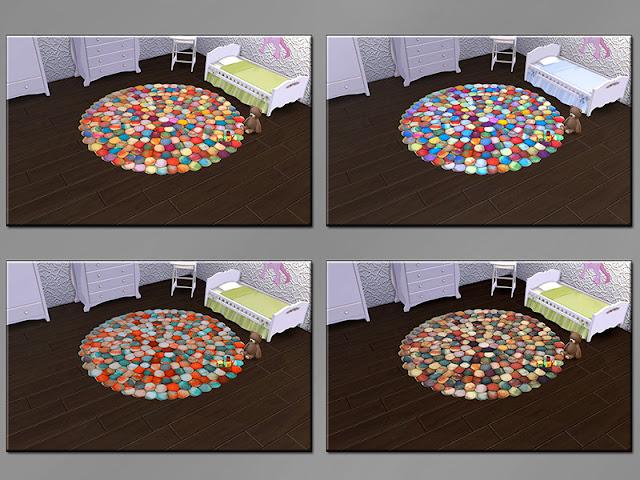 Ковры круглые и овальные для Sims 4 со ссылками для скачивания