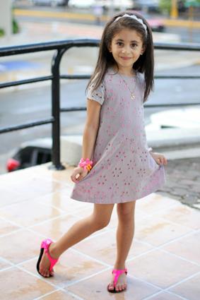 Gray and Neon Dress