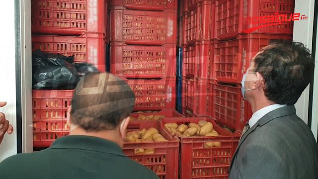 المهدية: حجز 40 طن من البطاطا داخل مخزن عشوائي