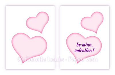 Quilling Hearts Card Design Pattern