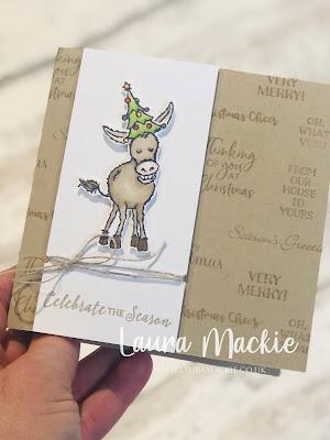 Stampin up darling donkeys Christmas card