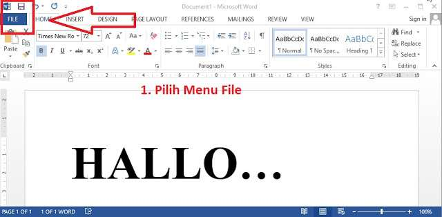 Buat Sebuah Dokumen Baru