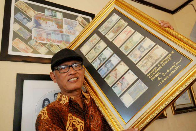 Pak Mujirun Maestro Pelukis Uang Kertas. Foto via Money.id