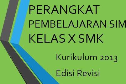 Perangkat Pembelajaran SIMKOMDIG SMK Kelas X Kurikulum 2013 Revisi TP 2019/2020