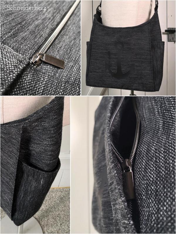 Tasche Dany von Machwerk Details der Reißertaschen