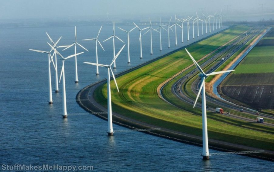 Highway in the Netherlands.