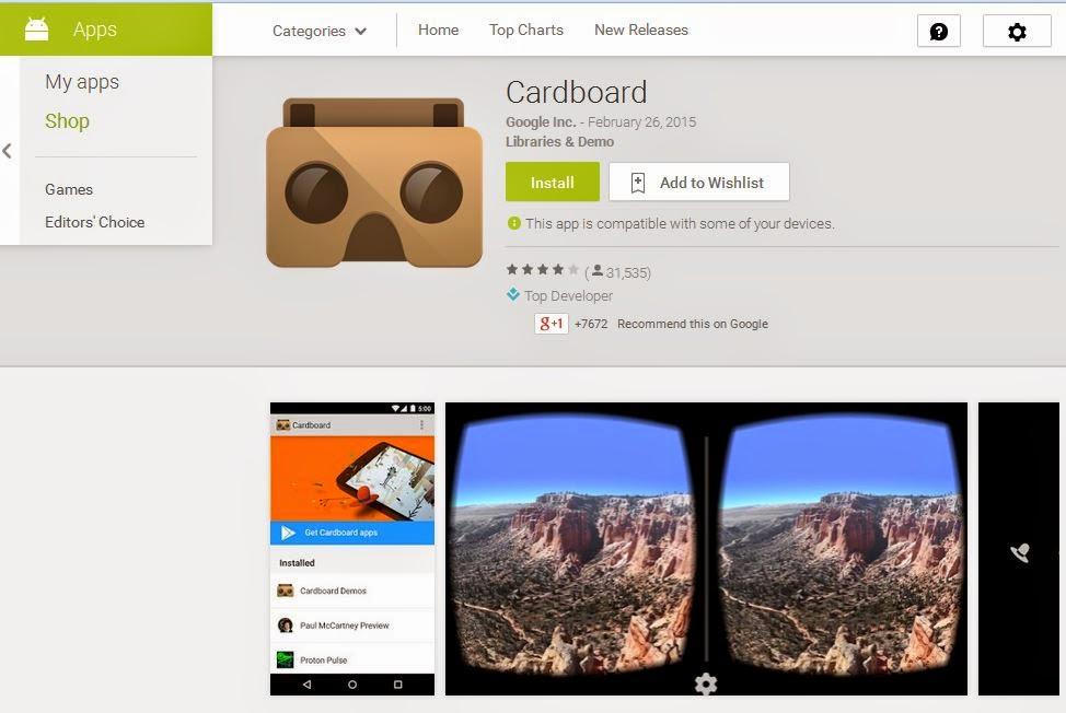 ขาย google cardboard