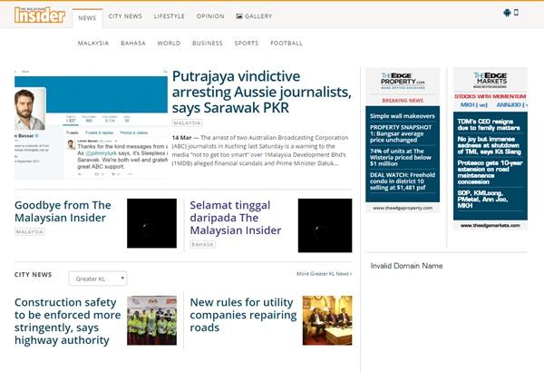 The Malaysian Insider tutup kedai mulai tengah malam ini