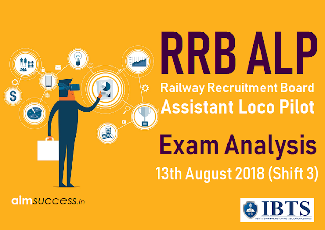 Railway RRB ALP Exam Analysis 13th August 2018 (Shift 3)