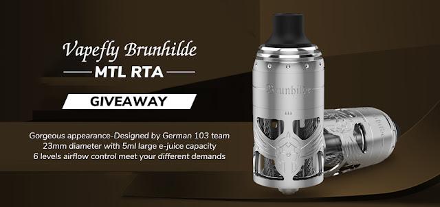 Vapefly Brunhilde MTL RTA Giveaway