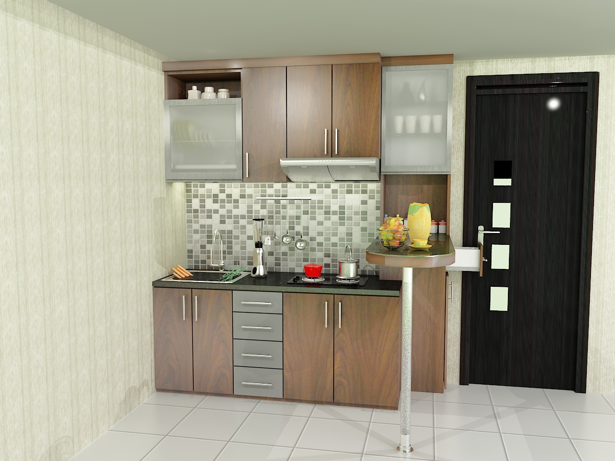 Kitchen Set Apartemen Dian Interior Design Wallpaper Hd