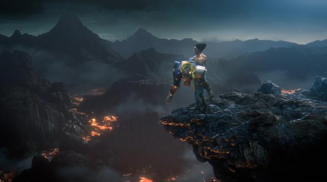 Super Smash Bros. Ultimate Kazuya Mishima drops Captain Falcon off cliff