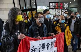 Eight prominent Hong Kong activists charged for security law protest