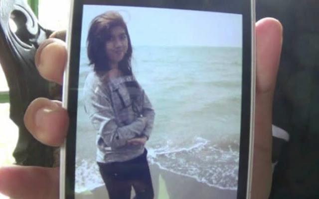 Foto Eno Parihah di layar telepon genggam temannya