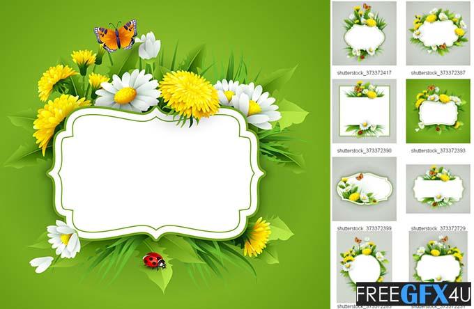 Spring Flower Frame Photo background