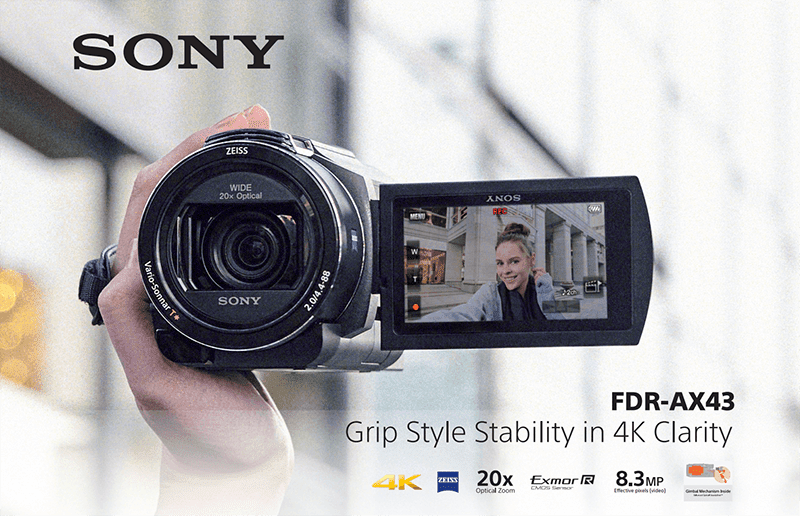 Sony FDR-AX43 compact 4K Handycam now for pre-order in the Philippines