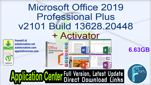 Microsoft Office 2019 Professional Plus v2101 Build 13628.20448 + Activator