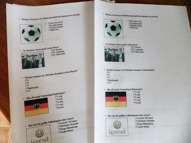 Mottogeburtstag Fußball- Quiz