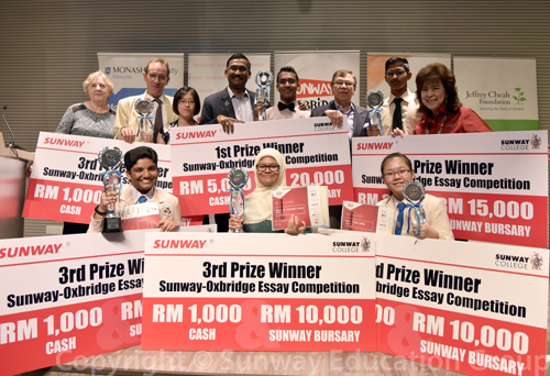 oxbridge essay sunway oxbridge essay competition write essays on  college news sunway oxbridge essay competition winners margaret hall 2nd row from left mark disney dato