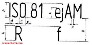 huruf dan angka gambar teknik